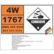 UN1767 Diethyldichlorosilane, Corrosive (8), Hazchem Placard
