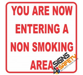 (NS11) Entering No Smoking Area Sign