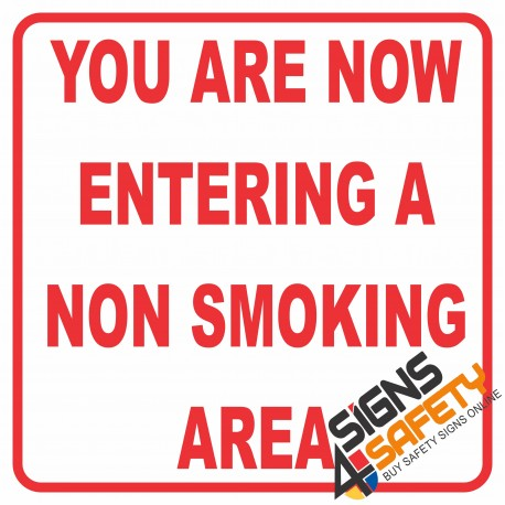 (NS11) Entering No Smoking Area Sign