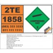 UN1858 Hexafluoropropylene compressed or Refrigerant gas R 1216, Compressed Gas (2), Hazchem Placard