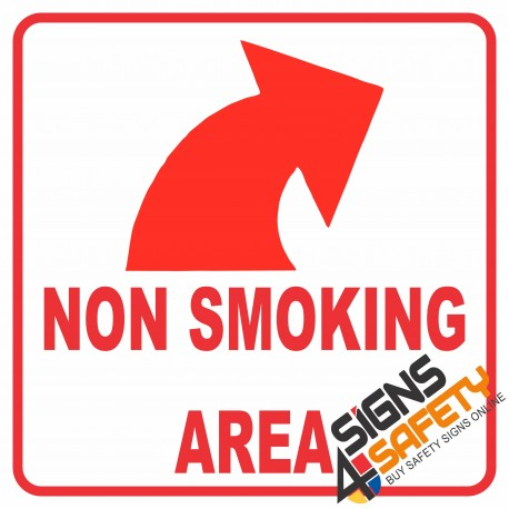 (NS12) Entering Non Smoking Area Arrow Sign