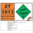 UN1913 Neon, refrigerated liquid (cryogenic liquid), Compressed Gas (2), Hazchem Placard