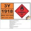 UN1918 Isopropylbenzene, Flammable Liquid (3), Hazchem Placard