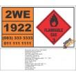 UN1922 Pyrrolidine, Flammable Liquid (3), Hazchem Placard