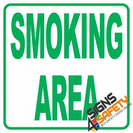 (NS17) Smoking Area Sign