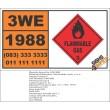 UN1988 Aldehydes, toxic, n.o.s., Flammable Gas (2), Hazchem Placard