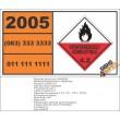UN2005 Magnesium diphenyl, Spontaneous Combustible (4), Hazchem Placard