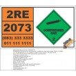 UN2073 Ammonia solutions,, Compressed Gas (2), Hazchem Placard