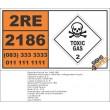 UN2186 Hydrogen chloride, refrigerated liquid, Toxic Gas (2), Hazchem Placard