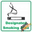 (NS22) Designated Smoking Area Sign