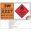 UN2227 n-Butyl methacrylate, stabilized, Flammable Liquid (3), Hazchem Placard