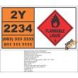 UN2234 Chlorobenzotrifluorides, Flammable Liquid (3), Hazchem Placard