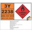UN2238 Chlorotoluenes, Flammable Liquid (3), Hazchem Placard