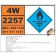 UN2257 Potassium, Dangerous When Wet (4), Hazchem Placard