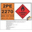 UN2270 Ethylamine, aqueous solution, Flammable Liquid (3), Hazchem Placard