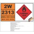 UN2313 Picolines, Flammable Liquid (3), Hazchem Placard