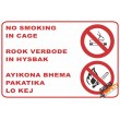 (NS14) No Smoking In The Cage / Lift Sign