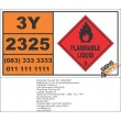 UN2325 1,3,5-Trimethylbenzene, Flammable Liquid (3), Hazchem Placard