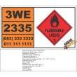 UN2335 Allyl ethyl ether, Flammable Liquid (3), Hazchem Placard