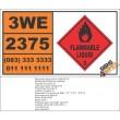 UN2375 Diethyl sulfide, Flammable Liquid (3), Hazchem Placard