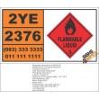 UN2376 2,3-Dihydropyran, Flammable Liquid (3), Hazchem Placard