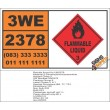 UN2378 2-Dimethylaminoacetonitrile, Flammable Liquid (3), Hazchem Placard