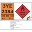 UN2384 Di-n-propyl ether, Flammable Liquid (3), Hazchem Placard