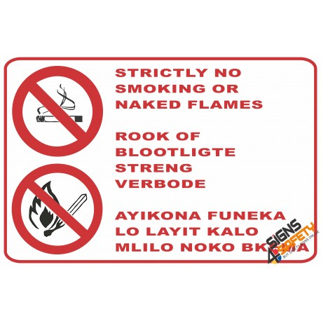 (NS16) No Smoking Area Sign