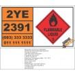 UN2391 Iodomethylpropanes, Flammable Liquid (3), Hazchem Placard