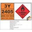 UN2405 Isopropyl butyrate, Flammable Liquid (3), Hazchem Placard