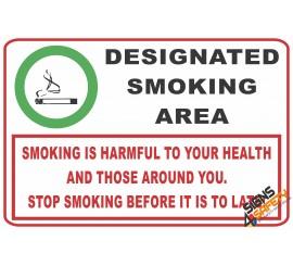 (NS20) Designated Smoking Area Sign