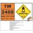UN2468 Trichloroisocyanuric acid, dry, Oxidizing Agent (5), Hazchem Placard