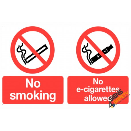 (NS33) No Smoking / No E-Sigarettes Allowed Sign