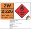 UN2526 Furfurylamine, Flammable Liquid, (3), Hazchem Placard