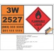 UN2527 Isobutyl acrylate, stabilized, Flammable Liquid, (3), Hazchem Placard