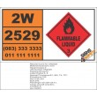 UN2529 Isobutyric acid, Flammable Liquid, (3), Hazchem Placard