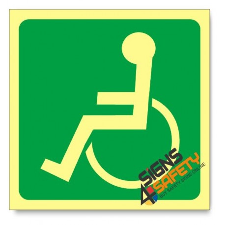 Wheelchair Access, Photoluminescent, (Glow in the Dark) Sign