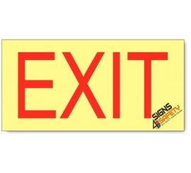 Emergency Exit Ahead, Photoluminescent, (Glow in the Dark) Sign