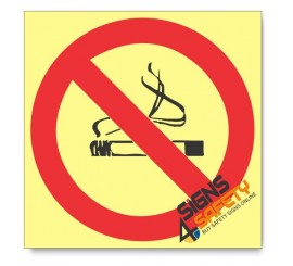 No Smoking, Photoluminescent, (Glow in the Dark) Sign