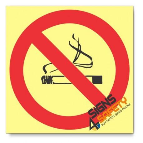 No Smoking, Photoluminescent, (Glow in the Dark) Sign