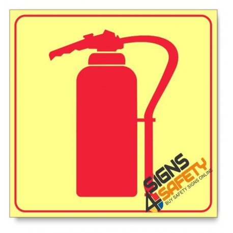 Fire Extinguisher, Photoluminescent, (Glow in the Dark) Sign
