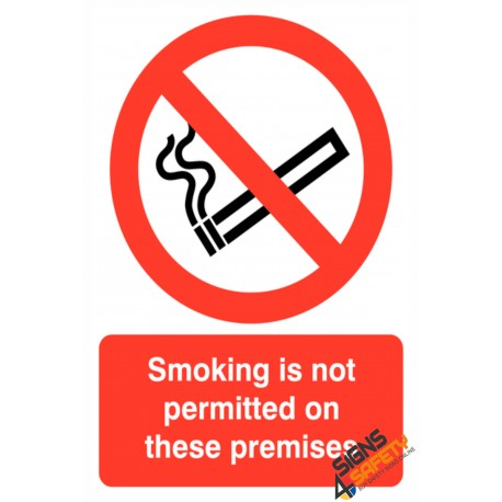 (NS30) Smoking Not Permitted On Premises Sign