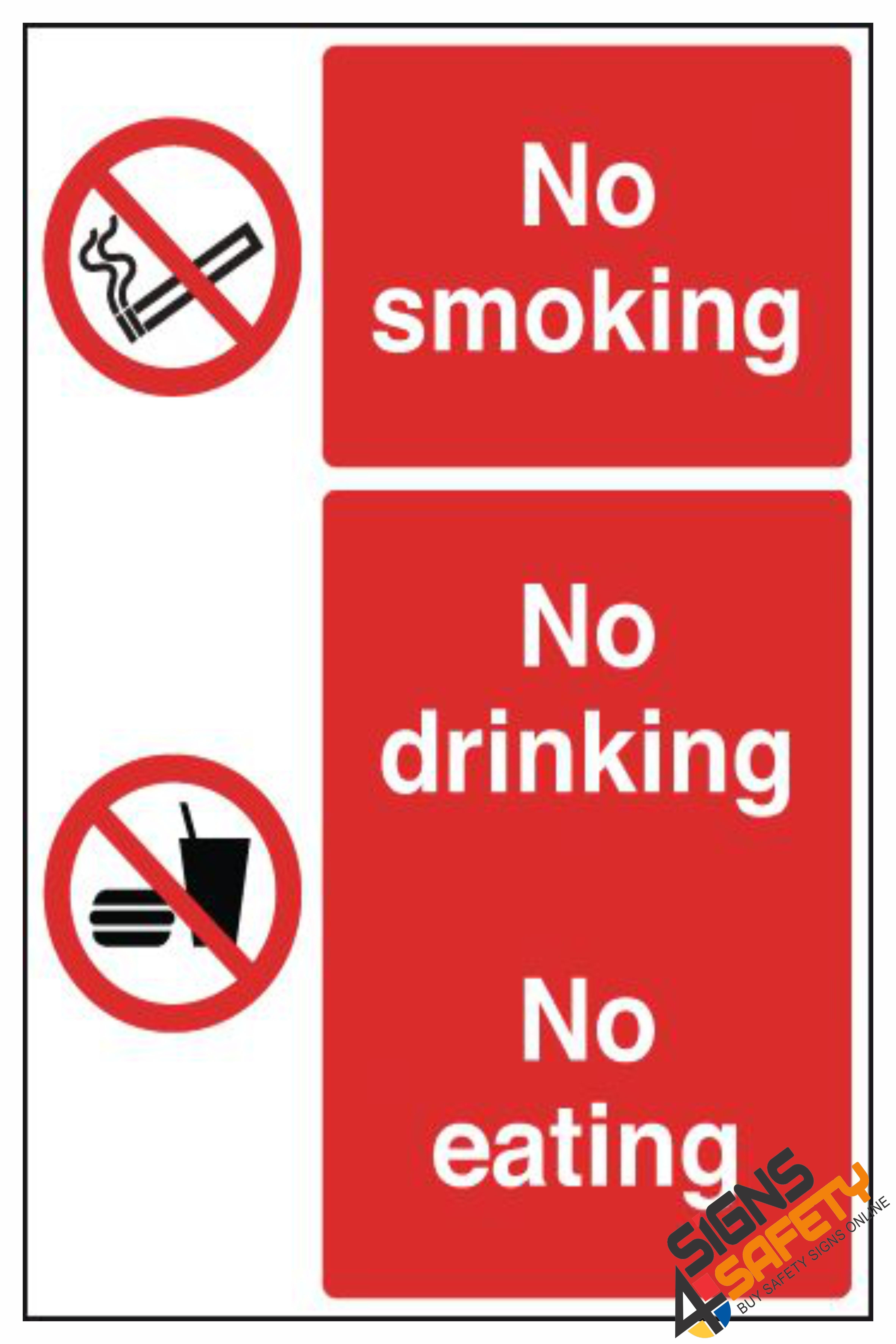 Nosa / SABS (NS31) No Smoking / No Eating / No Drinking Sign