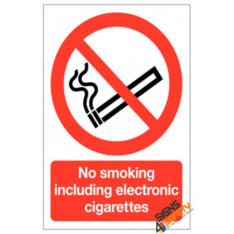 (NS32) No Smoking Including E-Cigarettes Sign