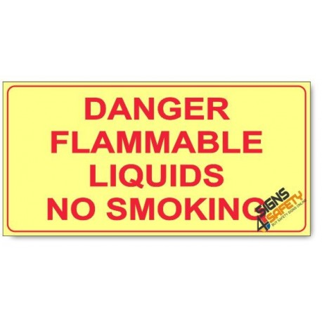 Danger Flammable Liquids, No Smoking, Photoluminescent, (Glow in the Dark) Sign