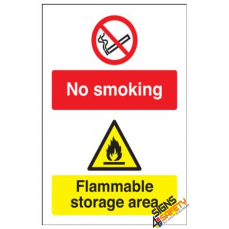 (NS36) No Smoking Flammable Storage Area Sign