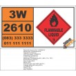 UN2610 Triallylamine, Flammable Liquid (3), Hazchem Placard