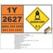 UN2627 Nitrites, inorganic, n.o.s., Oxidizing Agent (5), Hazchem Placard
