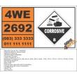 UN2692 Boron tribromide, Corrosive (8), Hazchem Placard