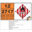 UN2717 Camphor, synthetic, Flammable Solid (4), Hazchem Placard
